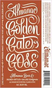 Almanac Brewing Co. - Golden Gate Gose