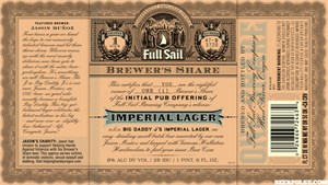Full Sail Brewer's Share: Imperial Lager
