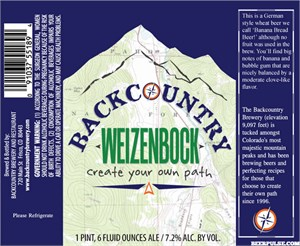Backcountry Weizenbock